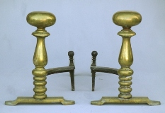 bradley and hubbard rare brass andirons