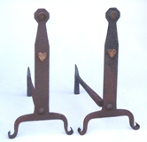 gustav stickley craftsman andirons